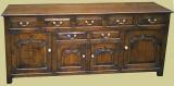 Oak 7 Drawer Dresser Base
