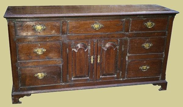 7 Drawer Sideboard Dresser Oak