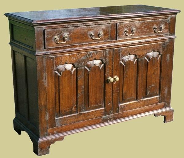 Small Oak Dresser Base