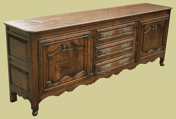 Oak French Style Dresser Base