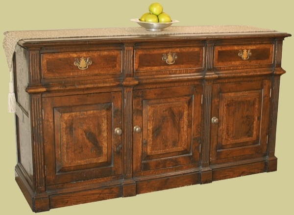 Oak Montgomeryshire Dresser Base