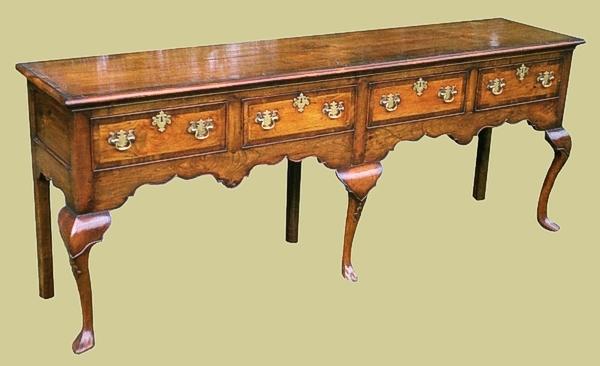 4 drawer open dresser base