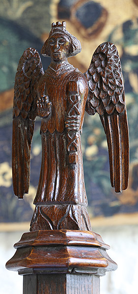 replica 15th century carved oak angel