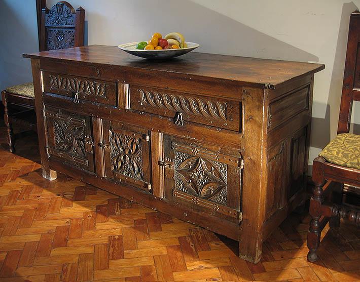 Carved tudor cupboard for blog