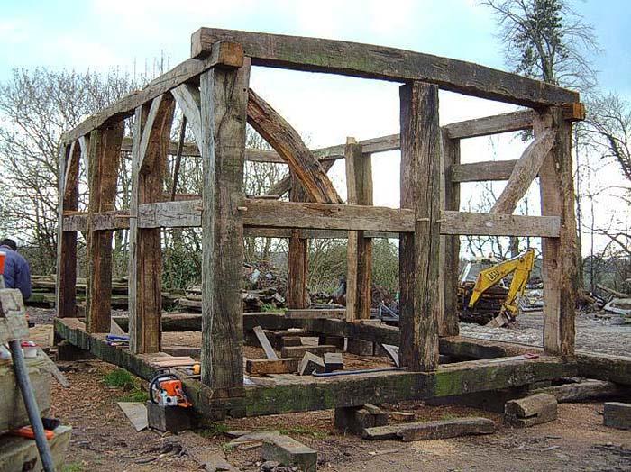 Old oak frame construction for blog