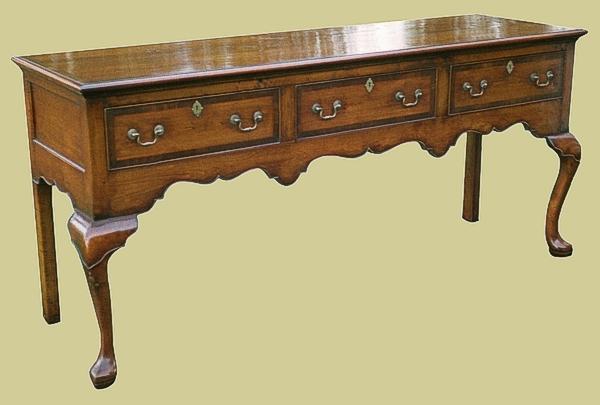 3 drawer open dresser base