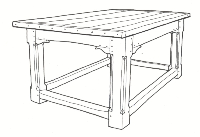 Refectory table sketch