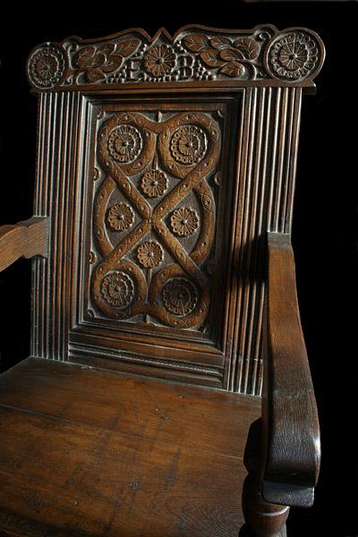 Westmorland carved armchair detail