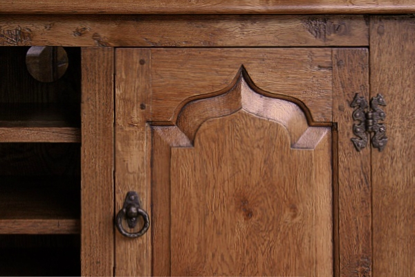 Ogee shaped fielded panel door