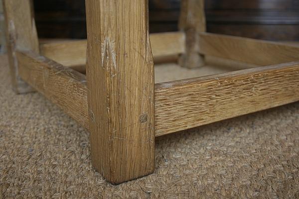Oak side chair stop chamfer