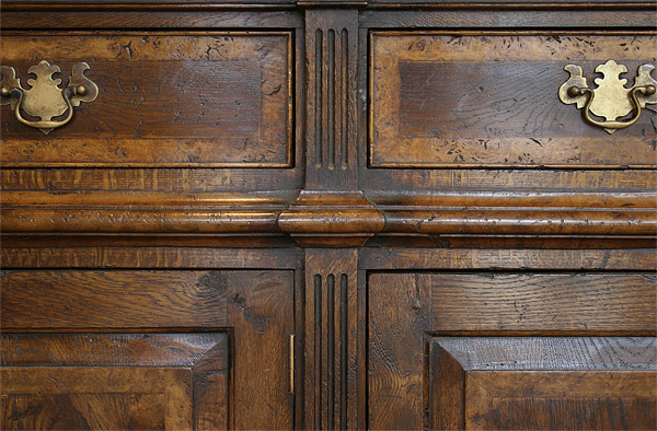 Montgomeryshire oak dresser base detail