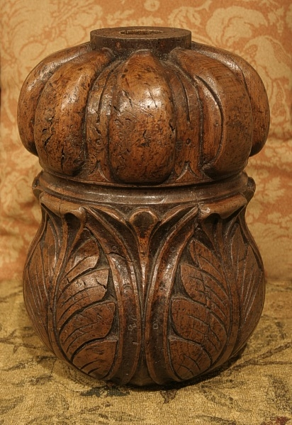 Carved oak cup and cover