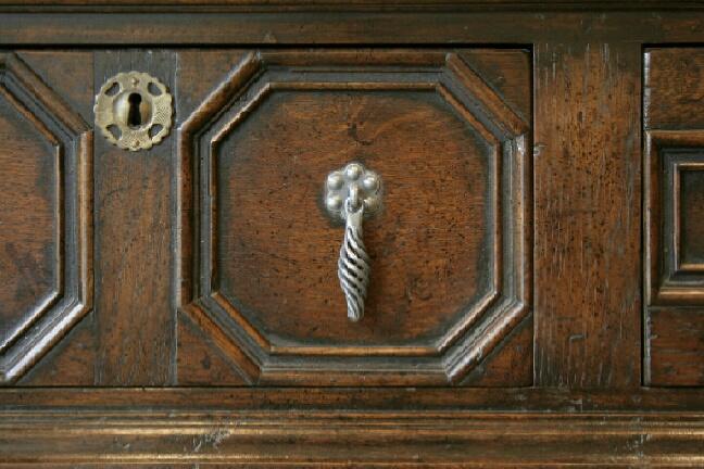 Jacobean dresser base detail