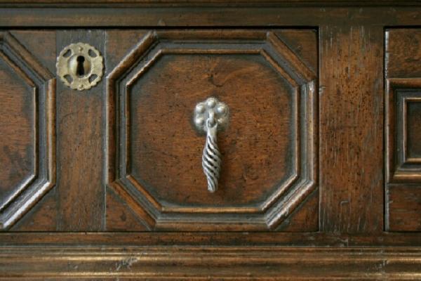 Detail of Jacobean style dresser