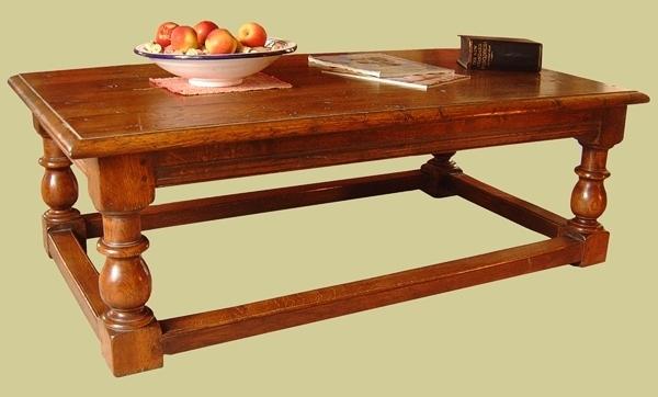 Oak  Bal.&Peg 4-Leg Coffee Table