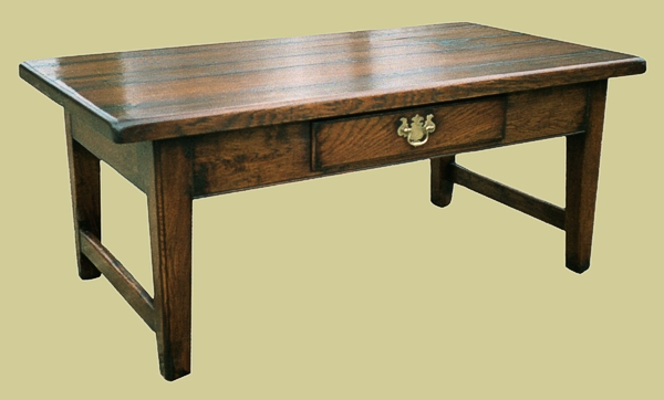 Fruitwood Tapered Leg Coffee Table With Drawer Also In Oak Occasional Furniture