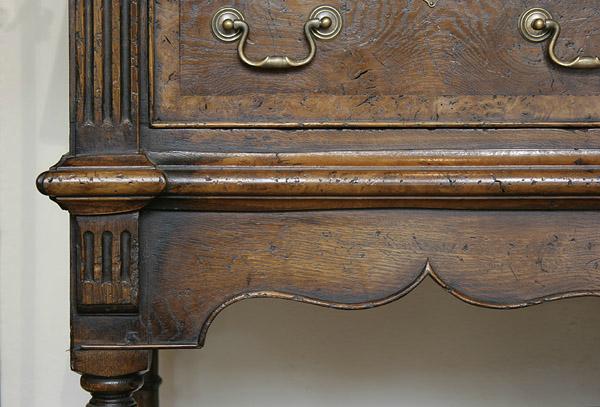 Montgomeryshire oak potboard dresser detail