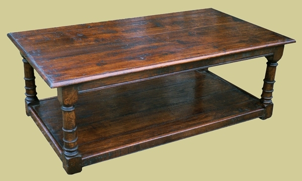Oak Coffee Table With Potboard