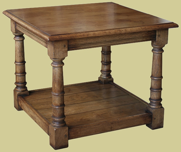 Oak Square Coffee Table With Potboard