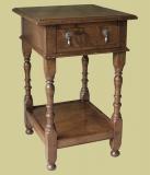 Oak Bedside Cab. Potboard & Drawer