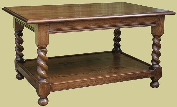 Barley Twist Coffee Table Oak