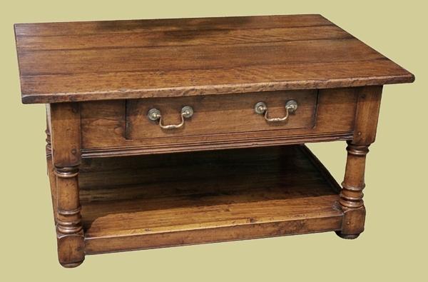 Oak Single Drawer Potboard Coffee Table