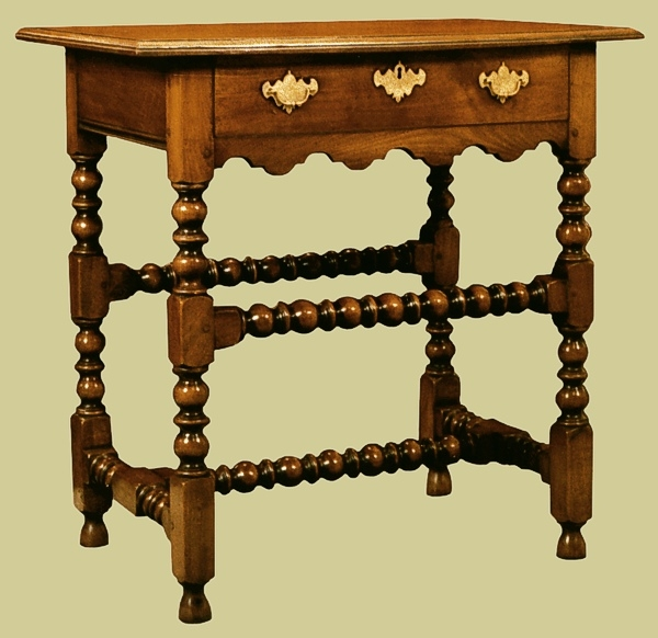Fruitwood shaped rail side table