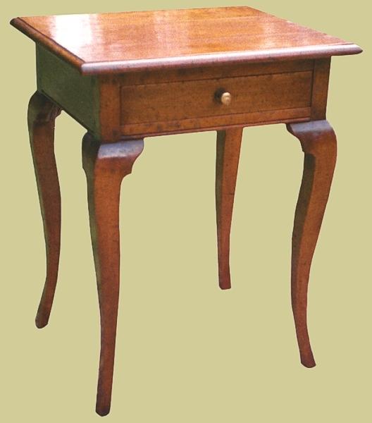 Fruitwood Cabriole Leg Side Table