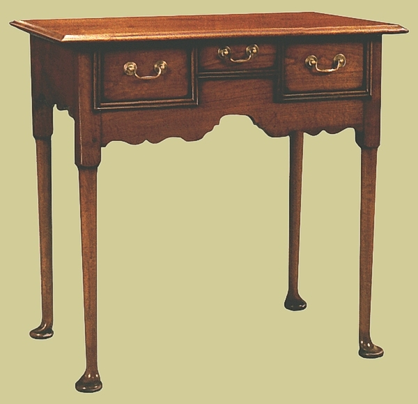 Fruitwood Pad Foot Side Table
