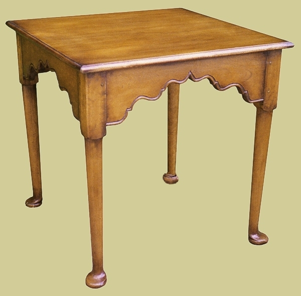 Fruitwood Pad Foot Lamp Table
