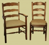 Upholstered seat French country chairs