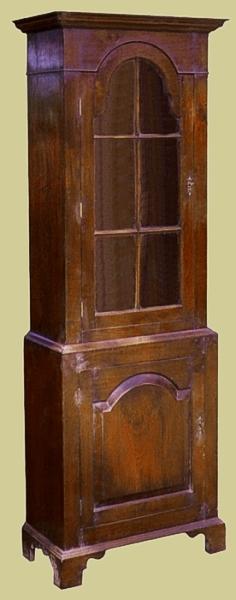 Fruitwood Display Cupboard