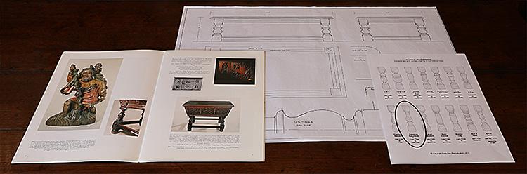 Period style oak coffee table design