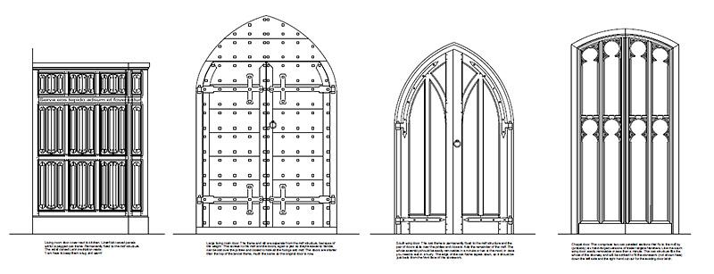 Oak door covers