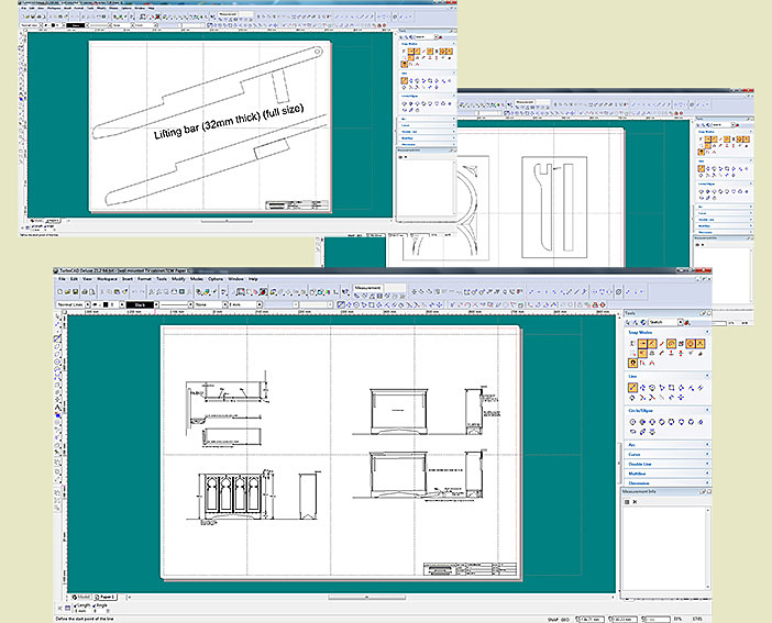 TV cabinet working drawings