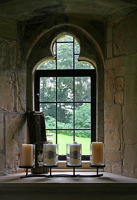 14th century stone trefoil window