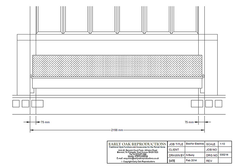 Diagram to alter electrics prior to installation of chapel bed