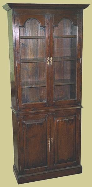 Oak Narrow Display Cabinet