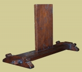 Custom designed oak flat screen TV mount