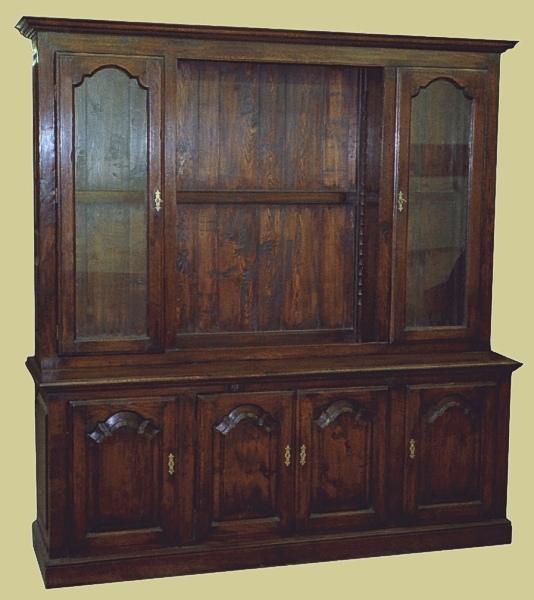Oak Dresser Type Display Cupboard