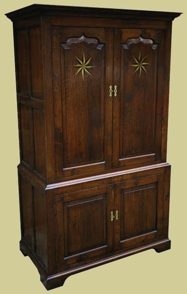 Best Quality Furniture >> Oak Starburst Inlay Storage Cupboard
