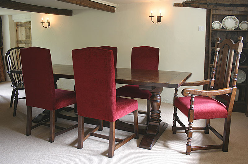 Semi bespoke dining table and chairs