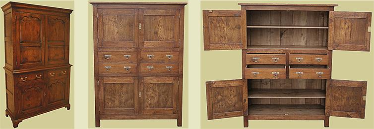Bespoke period style oak food cupboard re-designed to make a custom storage cupboard