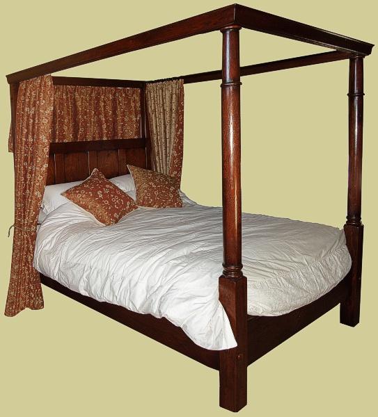 18th Century Georgian Style Handmade Oak Four Poster Bed