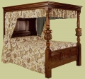 Reproduction Jacobean Style Handmade Oak Four Poster Bed