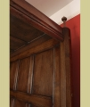 4 poster oak bed headboard mouldings and hand turned finial.
