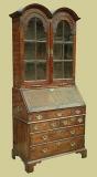 Oak 7-drawer Double Domed Top Bureau