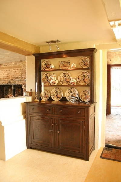 Small oak dresser in Kent country cottage kitchen