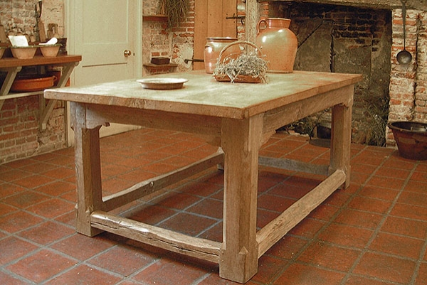 Oak refectory table for National Trust kitchen
