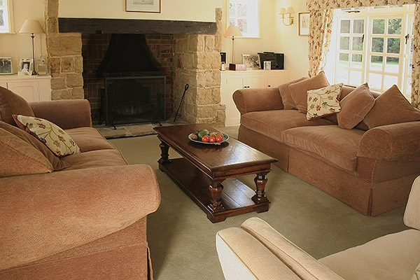 Bespoke coffee table in sitting room of period farmhouse
